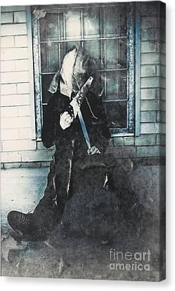 Hessian Bag Horrors Canvas Print by Jorgo Photography - Wall Art Gallery