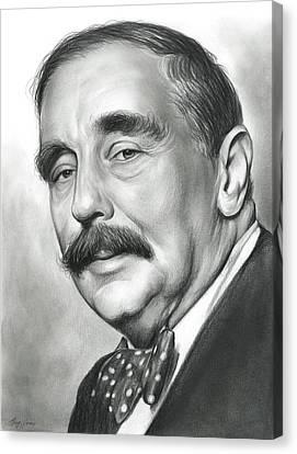 H.g. Wells Canvas Print by Greg Joens