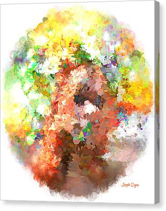 Hidding Face - Pa Canvas Print by Leonardo Digenio