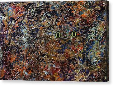 Hiding Canvas Print by James W Johnson