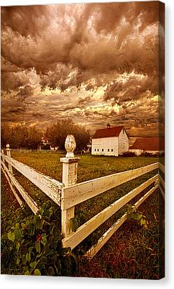 Hiding Like The Sun Behind The Clouds Canvas Print by Phil Koch