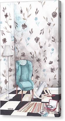 Hiding  Canvas Print by Soosh