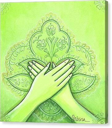 Hidraya Mudra Canvas Print by Sabina Espinet