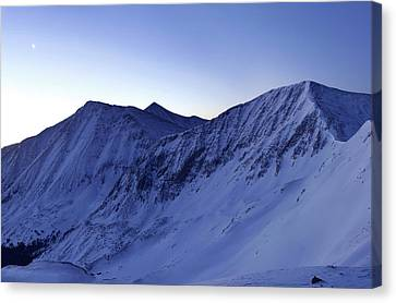 High Country Twilight Panorama - Triptych Left Canvas Print by Mike Berenson