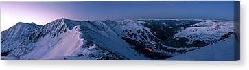 High Country Twilight Panorama Canvas Print by Mike Berenson