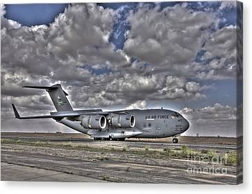 High Dynamic Range Image Of A C-17 Canvas Print by Terry Moore