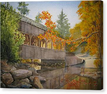 High Falls Bridge Canvas Print by Shirley Braithwaite Hunt