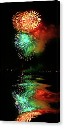 High On Fireworks W5132  Canvas Print by Wes and Dotty Weber