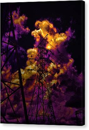 High Voltage Canvas Print by Marcie  Adams