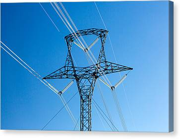 High Voltage Tower Canvas Print by Todd Klassy