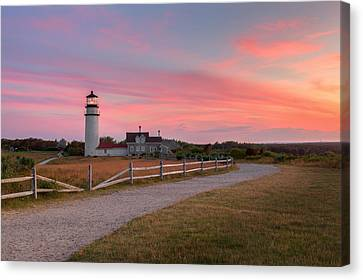 Highland Light Sunset Cape Cod  2015 Canvas Print by Bill Wakeley