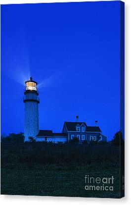Highland Lighthouse Night Canvas Print by John Greim