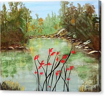 Highlands Lake Canvas Print by Sharon Eng