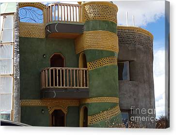 Highrise Earthship Canvas Print by Nancy DeYoung