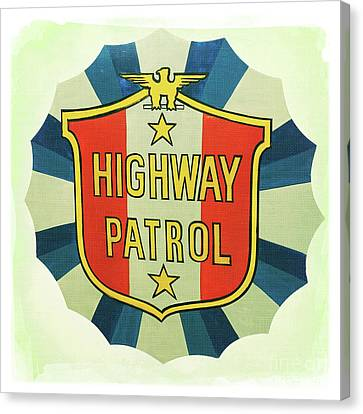 Highway Patrol Canvas Print by Nina Prommer