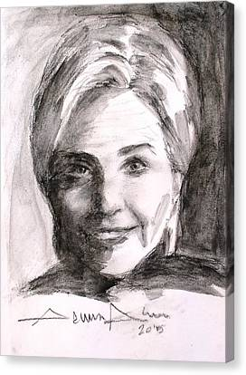 Hillary Clinton Canvas Print by Salman Ameer