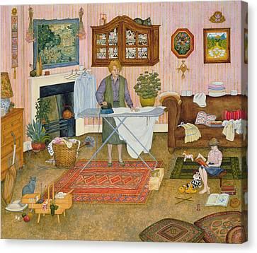 Hilda Nekudas Ironing Day Canvas Print by Ditz