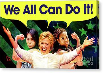 Hillary Clinton Canvas Print by To-Tam Gerwe