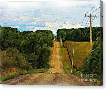 Hilly Country Road Canvas Print by Anthony Djordjevic