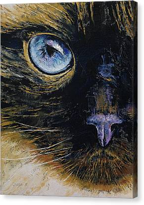 Burmese Cat Canvas Print by Michael Creese