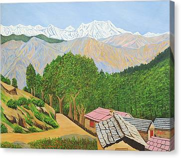 Himalayan Trails Canvas Print by Ajay Harit