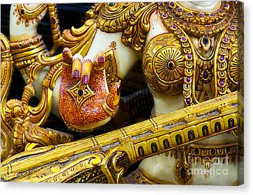 Hindu Goddess Saraswati Detail Canvas Print by Tim Gainey