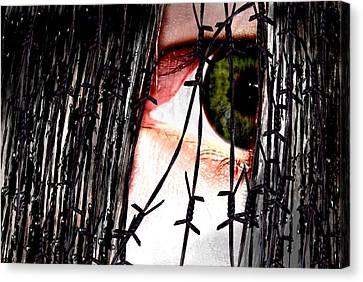 Hinterm Eisernen Vorhang Behind The Iron Curtain Canvas Print by TinaDeFortunata