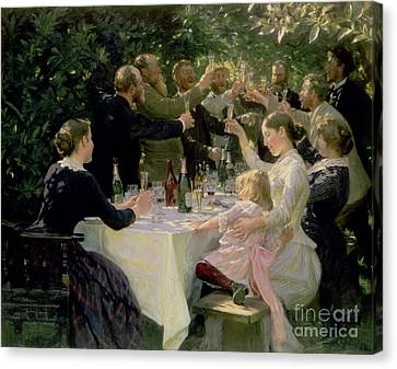 Hip Hip Hurrah Canvas Print by Peder Severin Kroyer