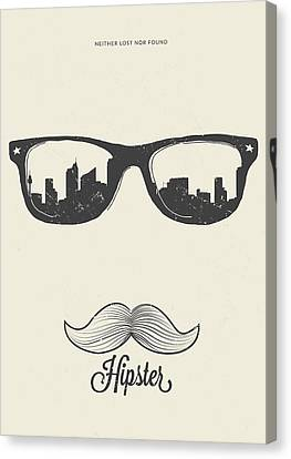 Hipster Neither Lost Nor Found Canvas Print by Bekare Creative