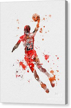 His Airness Canvas Print by Rebecca Jenkins