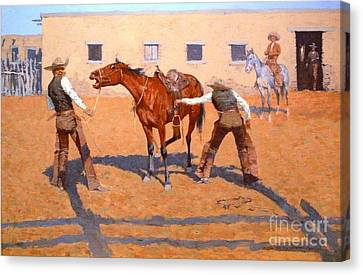 His First Lesson Canvas Print by Roberto Prusso