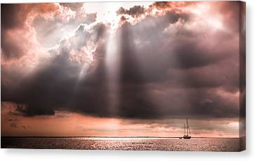 His Light Of Reassurance Canvas Print by Karen Wiles