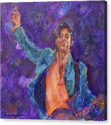 His Purpleness - Prince Tribute Painting - Original Canvas Print by Quin Sweetman