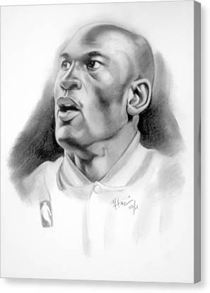 Michael Jordan Canvas Print by Michael Harris