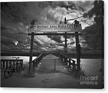 Historic Anna Maria City Pier 9177436 Canvas Print by Rolf Bertram