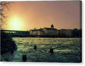 Historic Fox River Mills Canvas Print by Joel Witmeyer