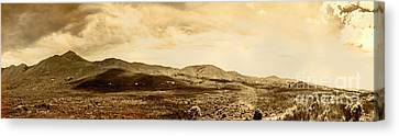 Historic Mountain Landscape In Sepia Tone Canvas Print by Jorgo Photography - Wall Art Gallery