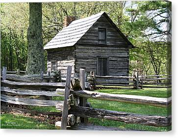 Historic Puckett's Cabin Canvas Print by Bill Spittle