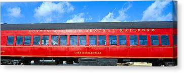 Historic Red Passenger Car, Austin & Canvas Print by Panoramic Images