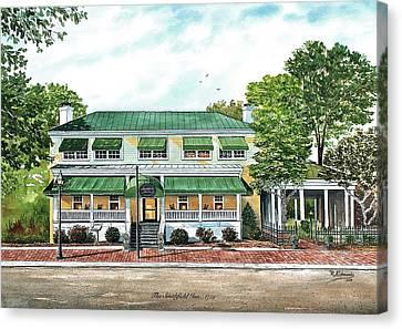 Historic Smithfield Inn Canvas Print by Raymond Edmonds