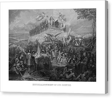 Historical Monument Of Our Country Canvas Print by War Is Hell Store