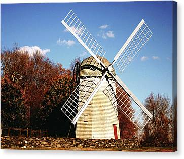 Historical Windmill Canvas Print by Lourry Legarde