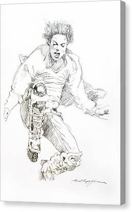 History Concert - Michael Jackson Canvas Print by David Lloyd Glover