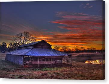 His Works Sunrise Canvas Print by Reid Callaway