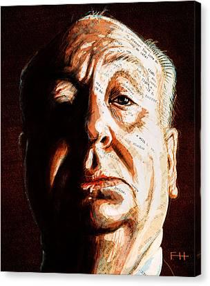 Hitchcock Canvas Print by Fay Helfer