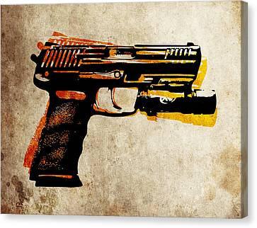 Hk 45 Pistol Canvas Print by Michael Tompsett