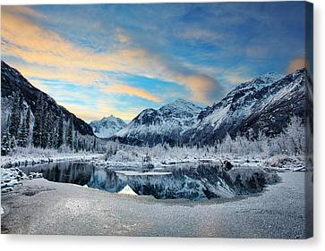 Hoar Frost Canvas Print by Ed Boudreau
