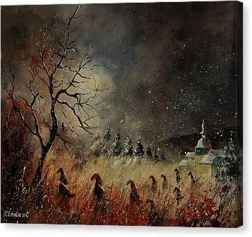 Hobglobins At Night Canvas Print by Pol Ledent