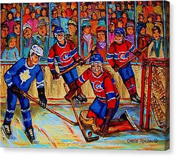 Hockey  Hero Canvas Print by Carole Spandau