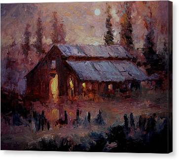Hoedown At Mr. Robert's Barn Canvas Print by R W Goetting